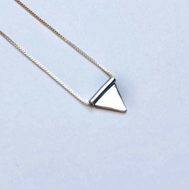 Lima Lima - Eco Sterling Silver Triangle necklace