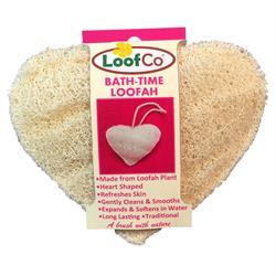 LoofCo Bath-Time loofah heart shape plastic free