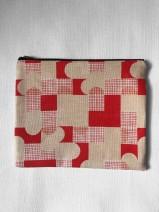 Millie Rothera Design - Flat Pouch / Make-up Bag – Orange Check