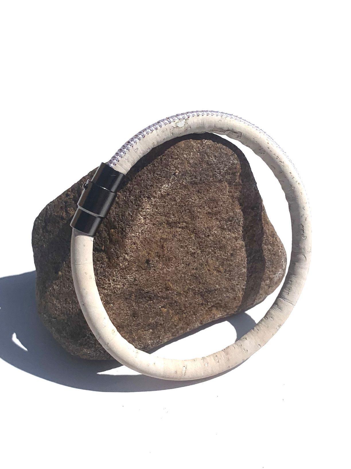 ESC - White  Single Loop Vegan Bracelet