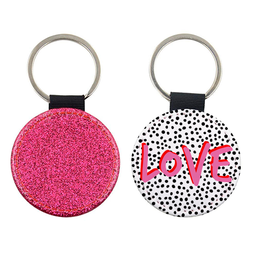 ' Love Polka Dot ' Keyring (Art Wow)