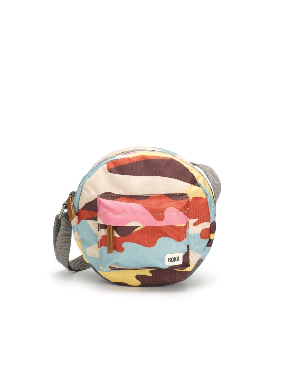 Roka Bags - Paddington B Small Crossbody - Retro Camo Sustainable