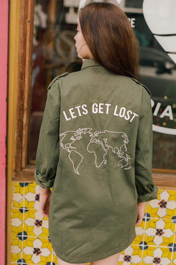 Get Lost Military Jacket - Olive & Frank