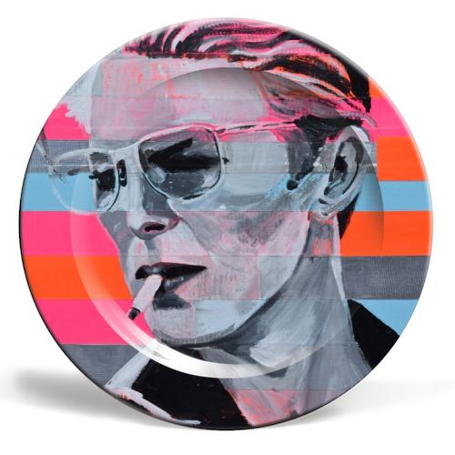 "'Neon Bowie' (Art Wow 8"" Plate)"