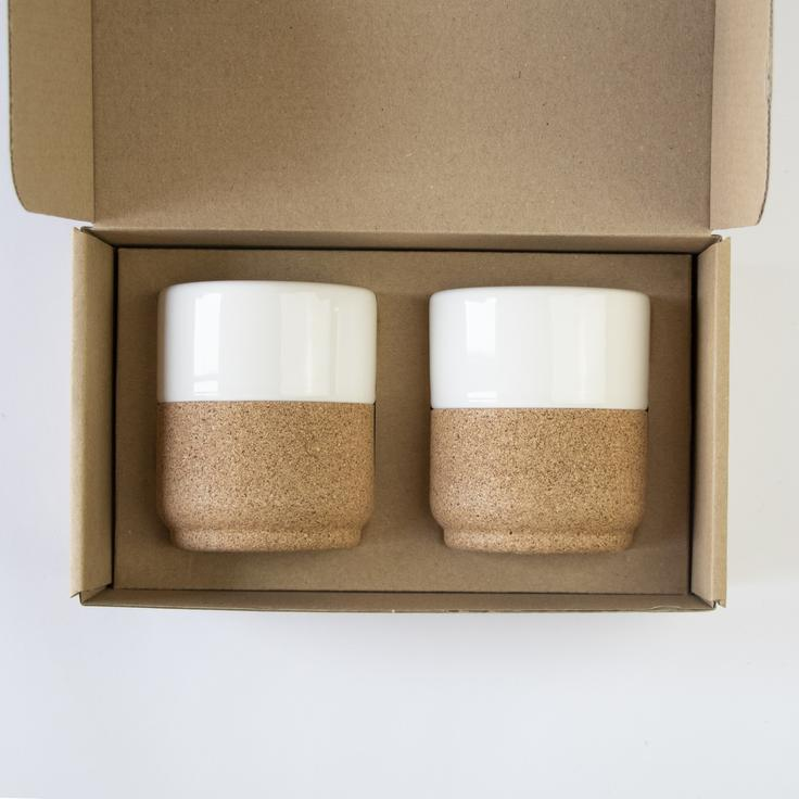 Liga - Medium Mug Gift Set - Cream