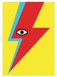 ' Bowie ' A3 Art Print (East End Prints)