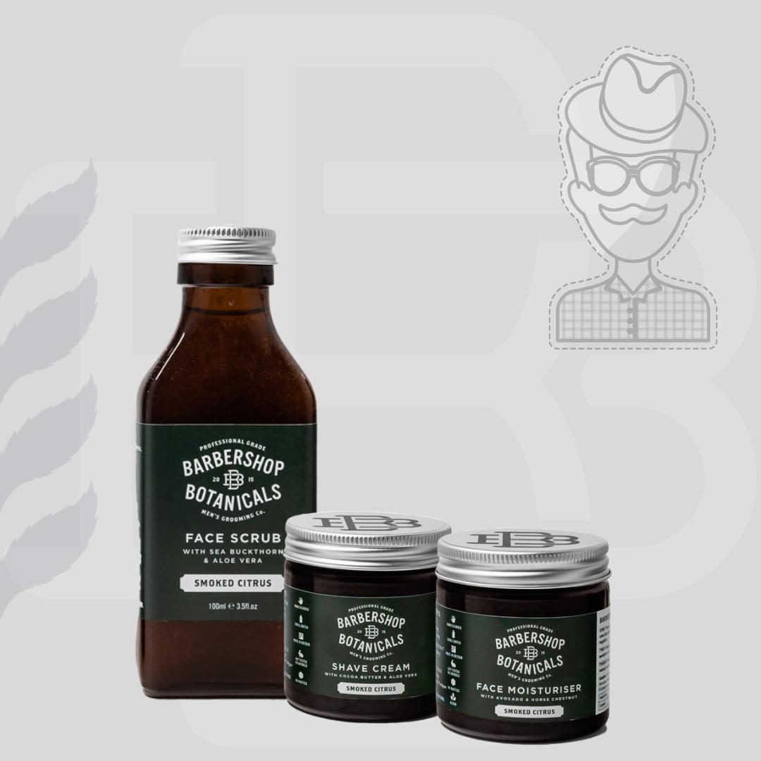 Barbershop Botanicals - Smoked Citrus Skin Care Gift Set