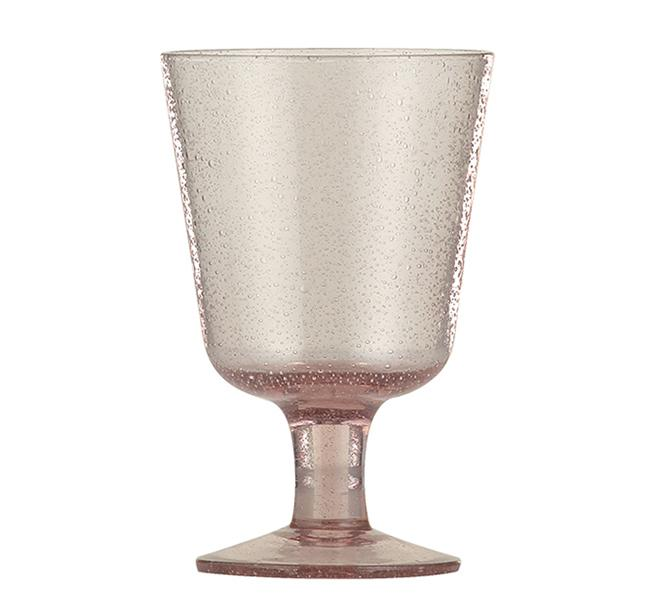 BCS British Colour Standard - Handmade Wine Glass - Old Rose