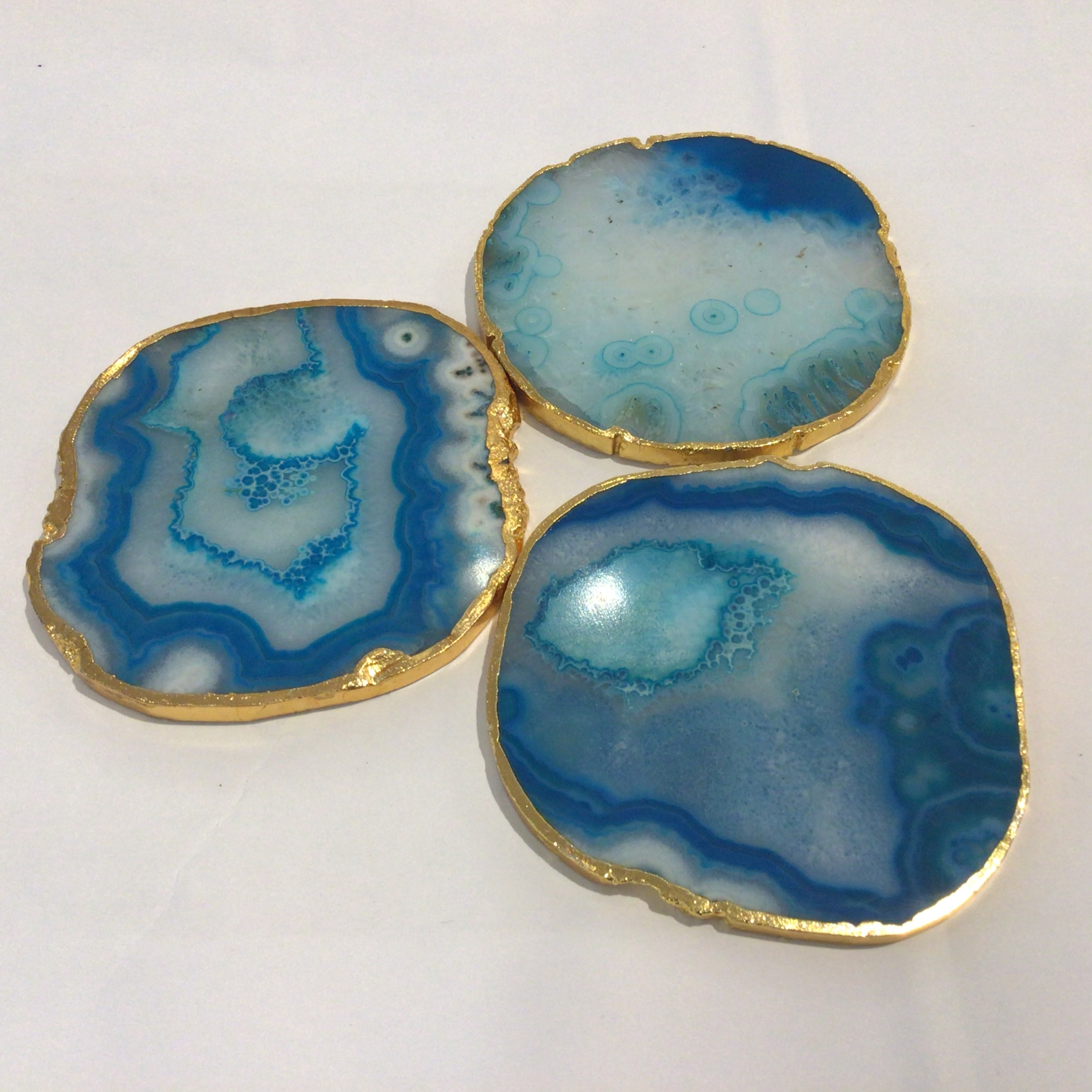 Agate Coaster - Blue