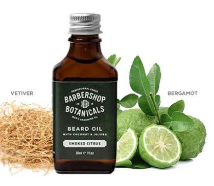 Barbershop Botanicals - Smoked Citrus Beard Oil with coconut & jojoba  30ml