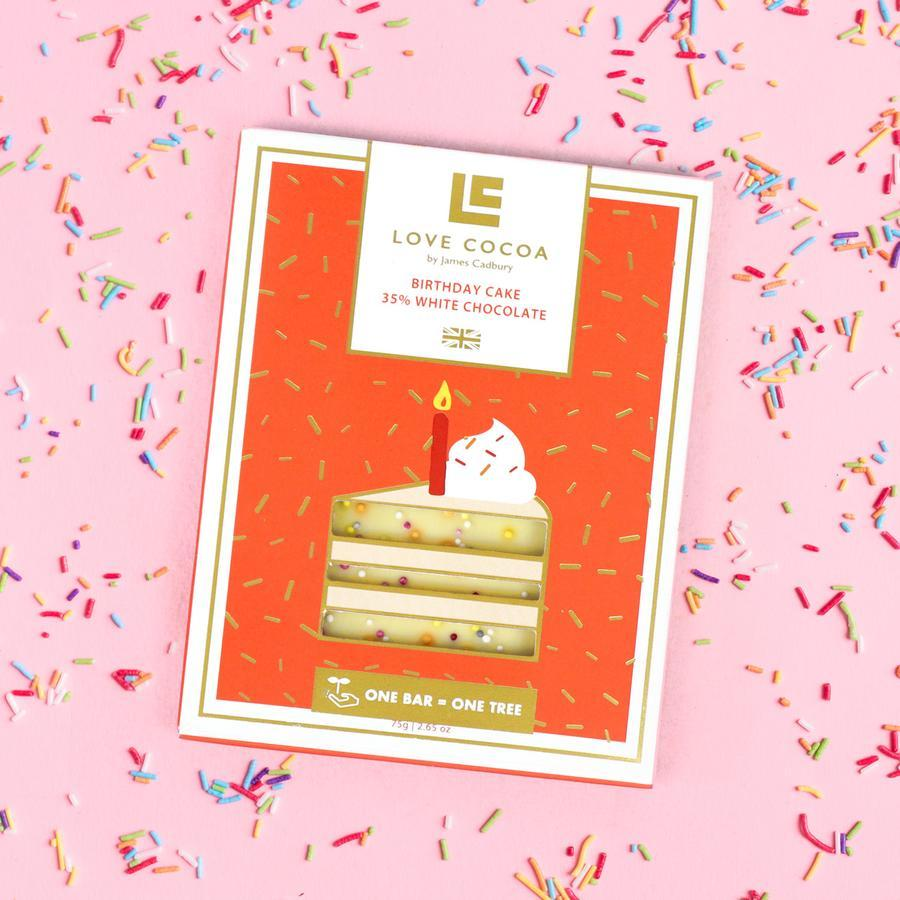 Love Cocoa - White Birthday Cake Bar 75g