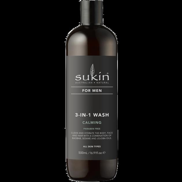 Sukin for Men 3-in-1 Calming Wash 500ml