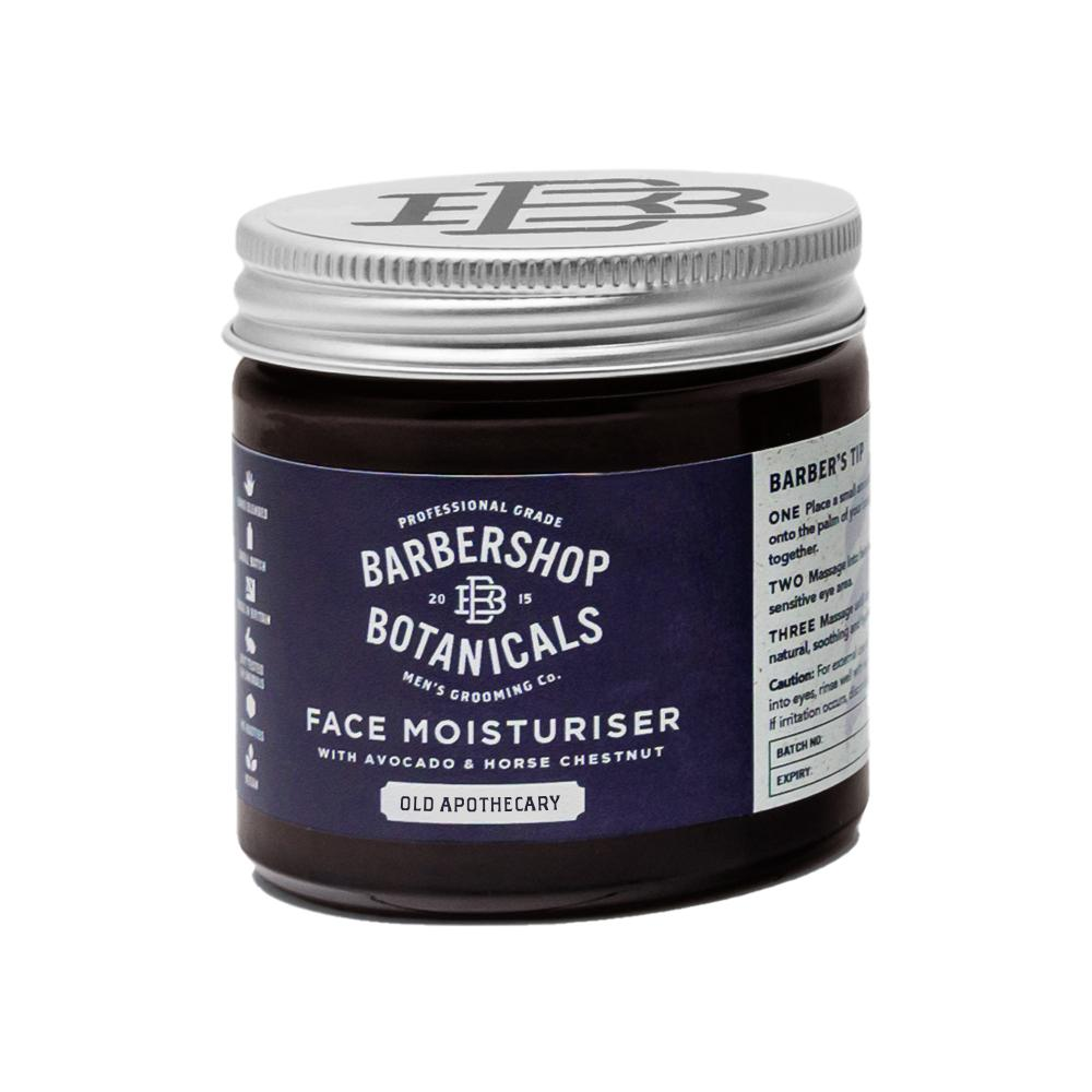 Barbershop Botanicals - Old Apothecary Face Moisturiser with Avocado & Horse Chestnut  60ml