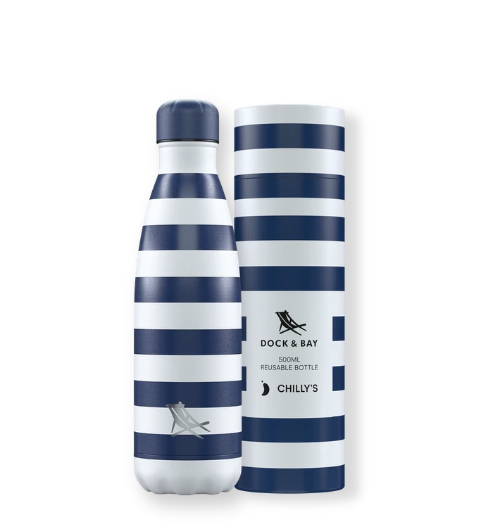 Chilly's Water Bottle 500ml Special Edition - Dock & Bay, Whitsunday Navy