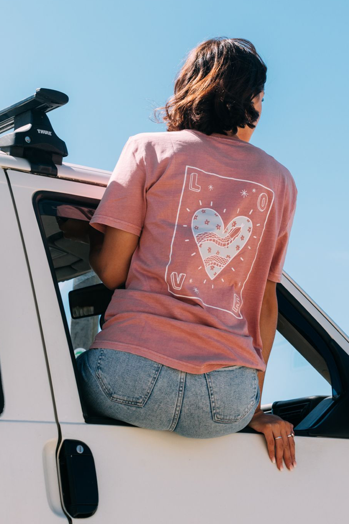 Olive & Frank 'LOVE' Tee - Dusty Pink