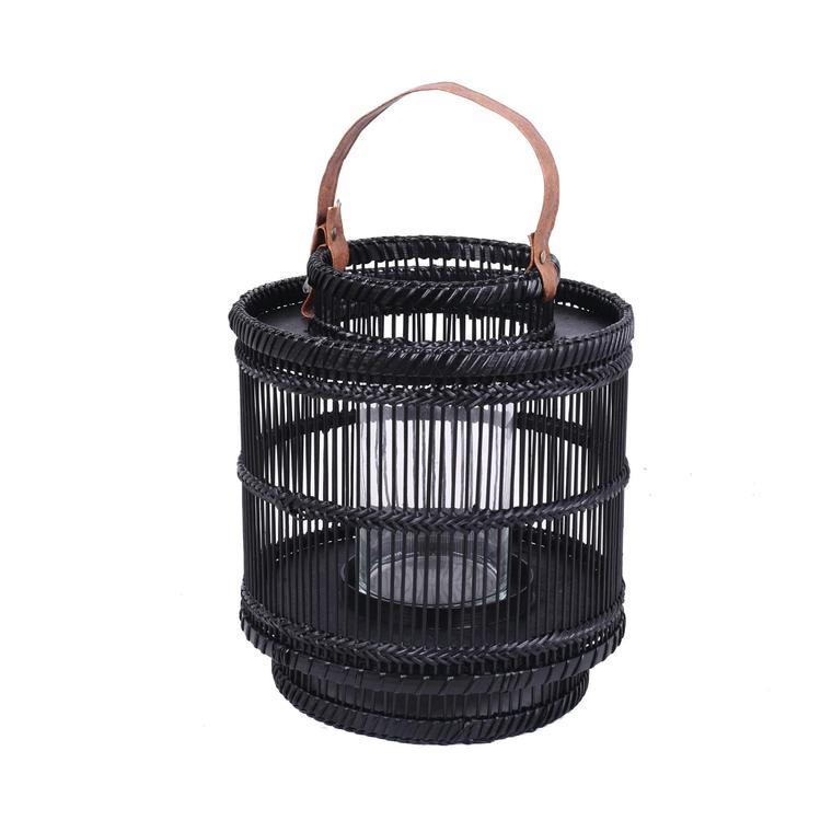 Chickidee - Ira Bamboo Lantern Black  Small × 4