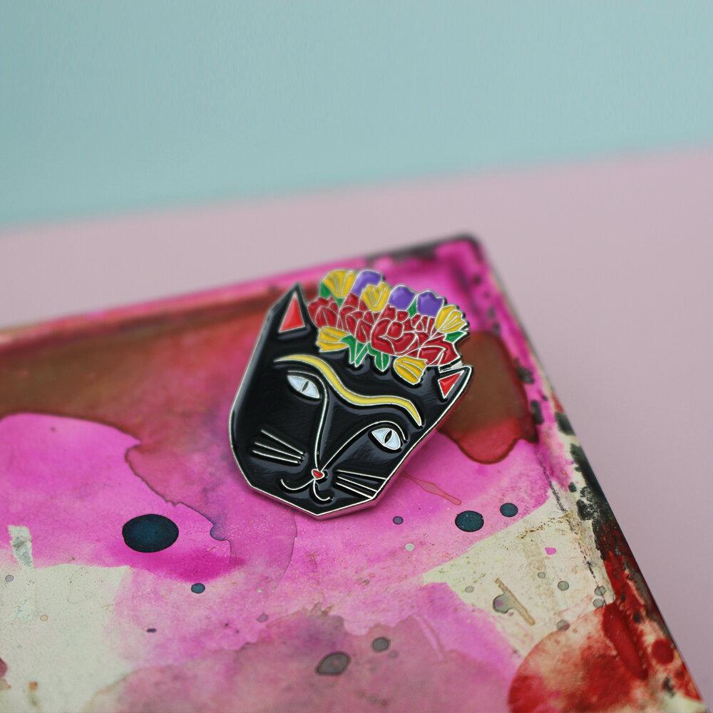 Niaski - Frida Catlo Enamel Pin