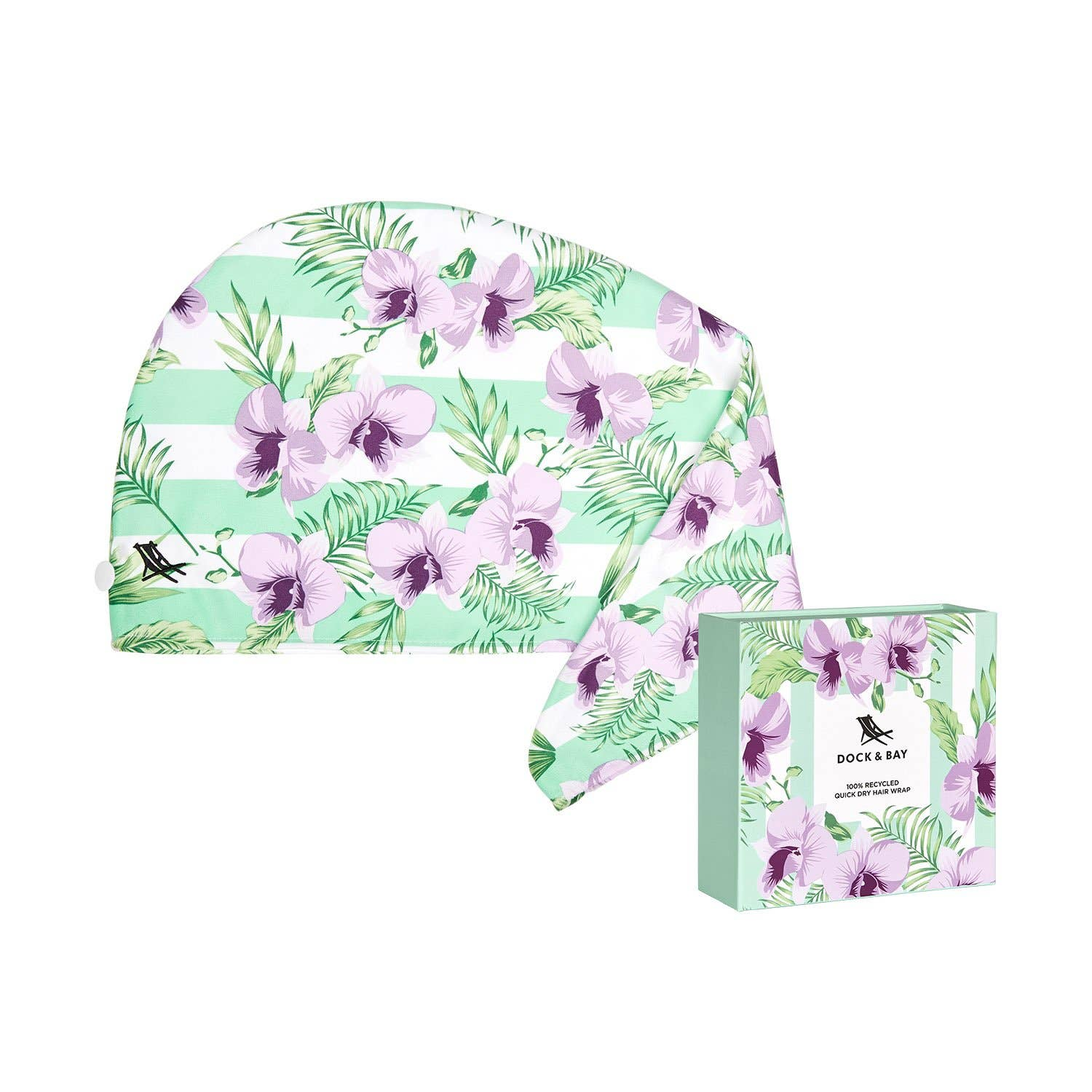 Dock & Bay Hair Wrap - Quick Dry Hair Towel - Orchid Utopia
