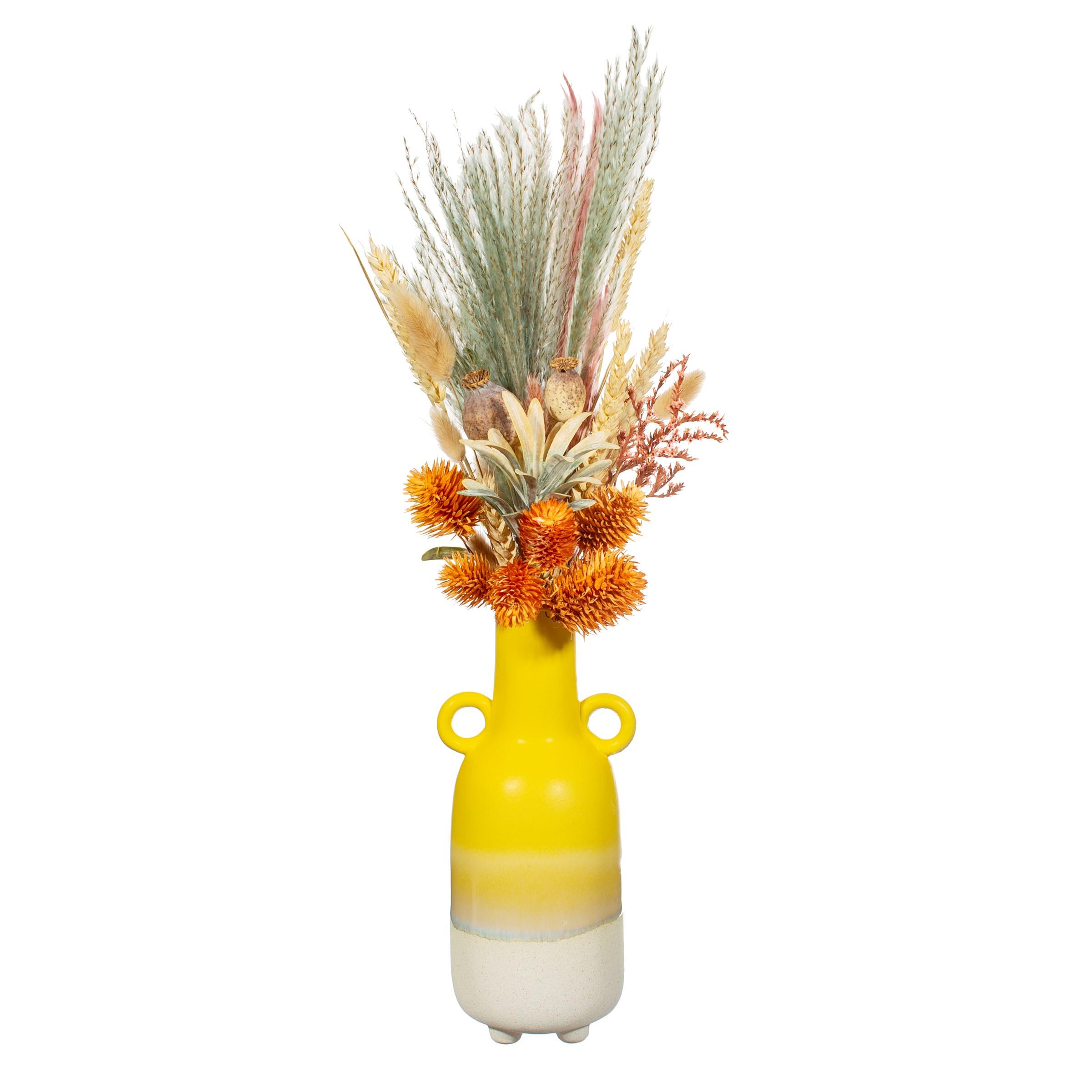 (Sass & Belle) Mojave  Glaze Yellow Large Vase