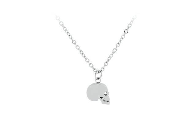 Esa Evans - Skull Pendant Necklace (Polished Steel)