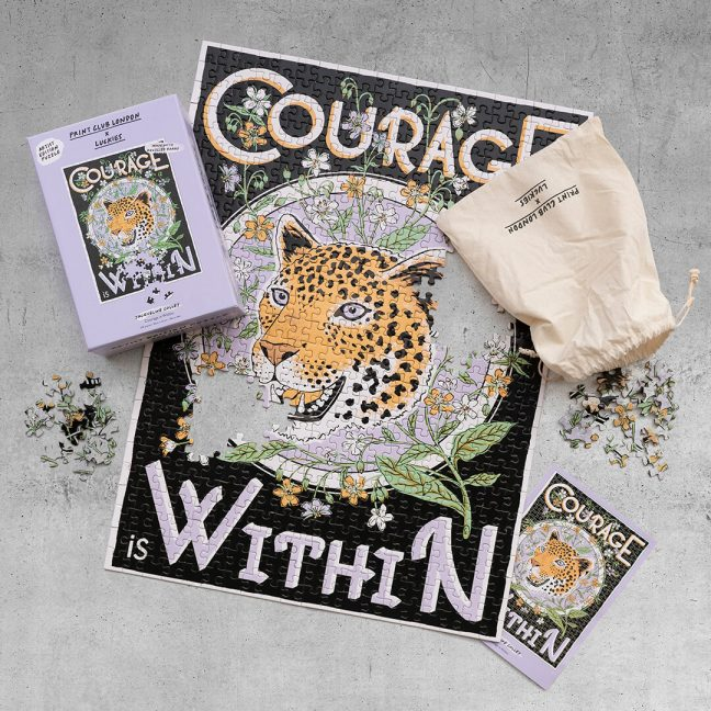 Print Club London  – Courage Is Within Jigsaw Puzzle