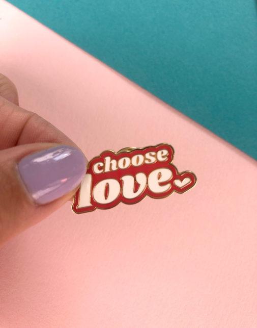 Doodle Moo - Enamel Pin - Choose Love