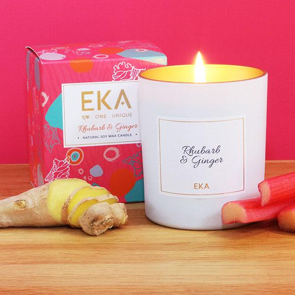 EKA - Rhubarb & Ginger Soy Wax Candle