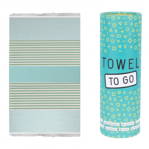 Towel to Go - Hammam towel in Turquoise / Green