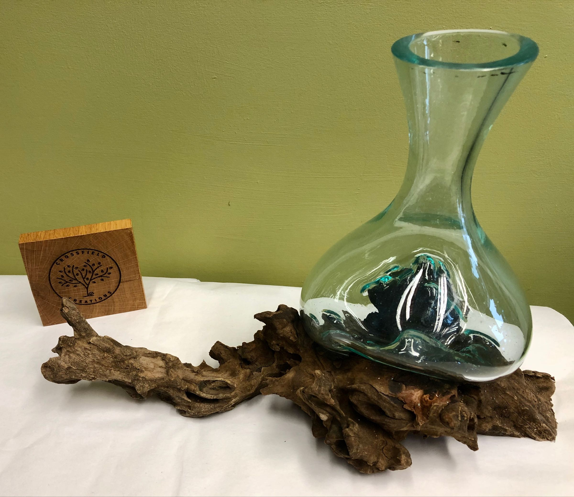 Carafe  vase on root