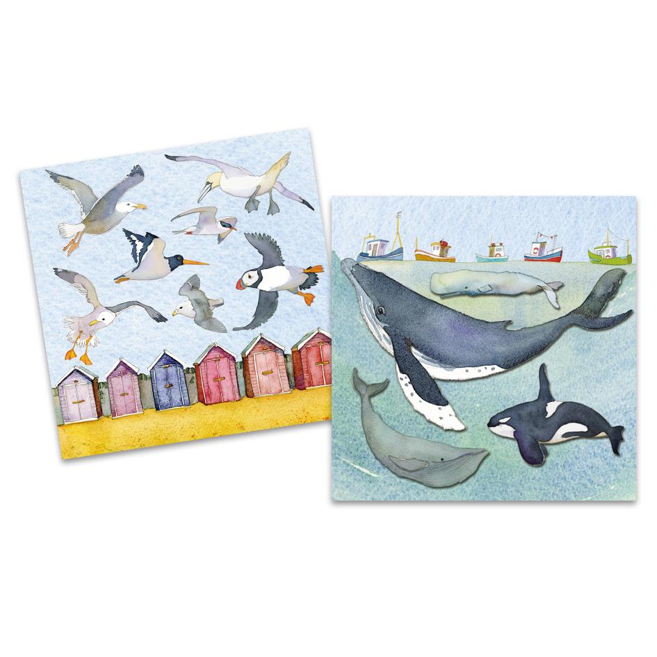 Sea life Mini Notecard Pack