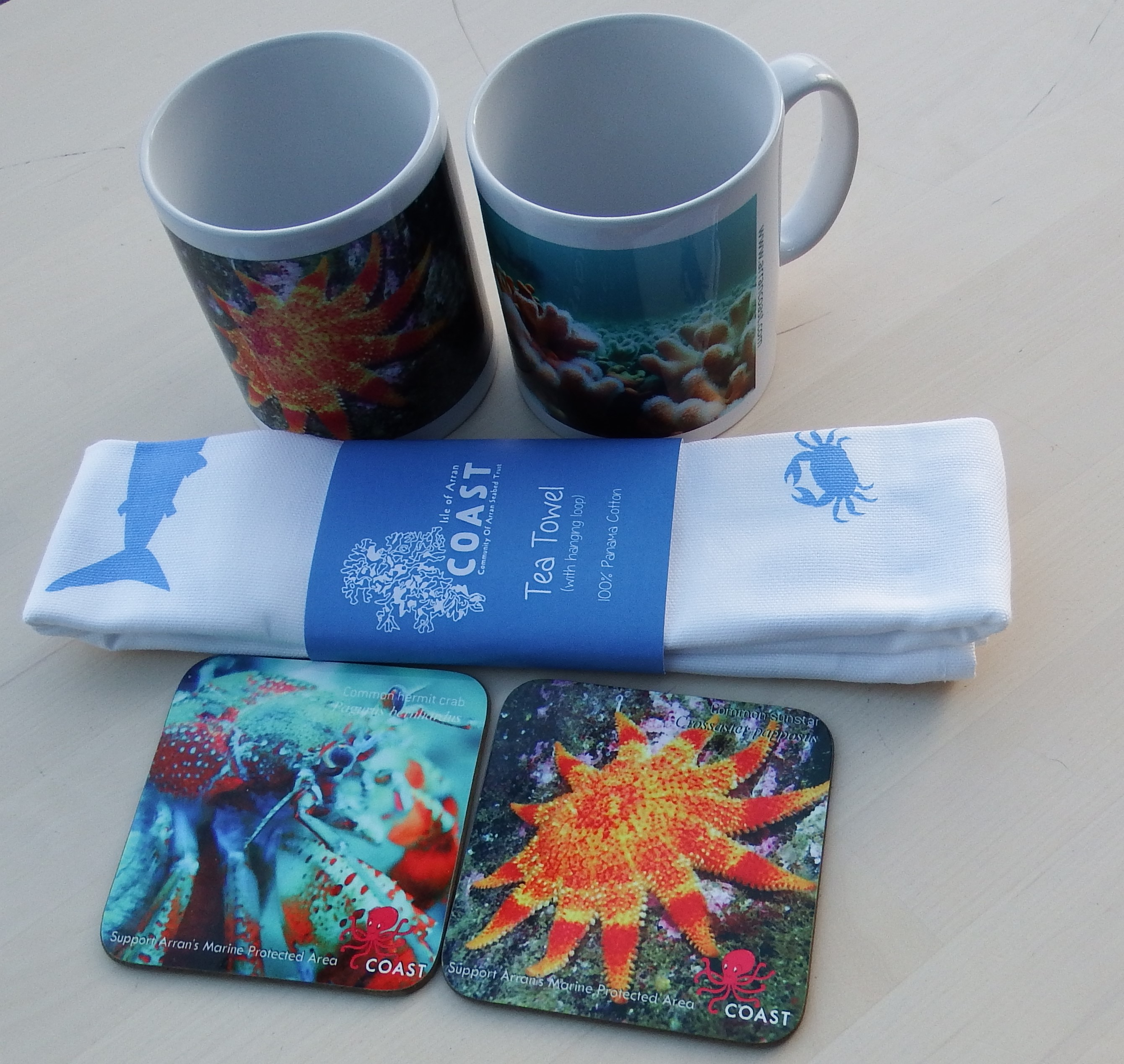 Mugs, Coaster and Tea Towel