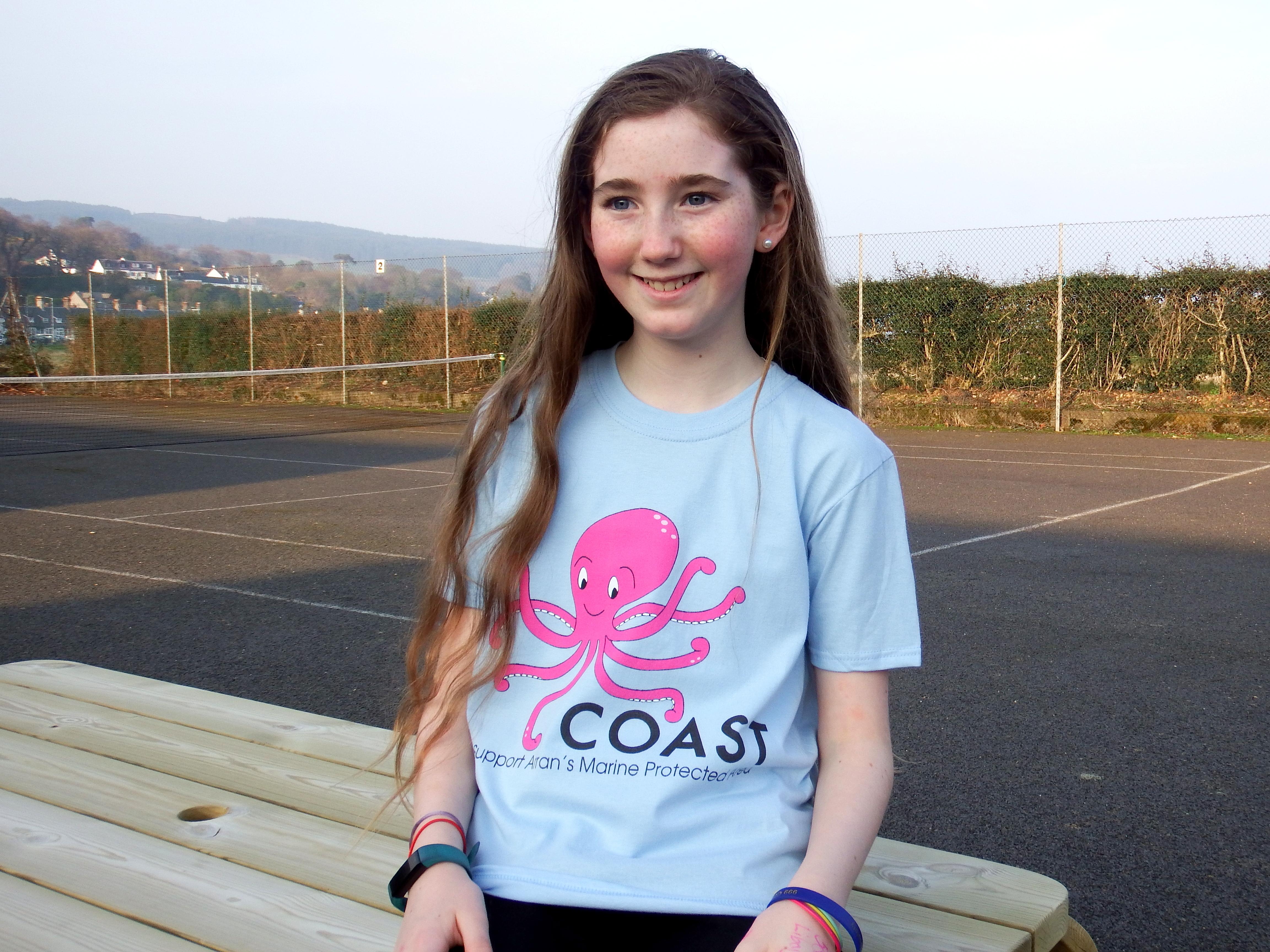 Children's Octopus T-shirt- Blue