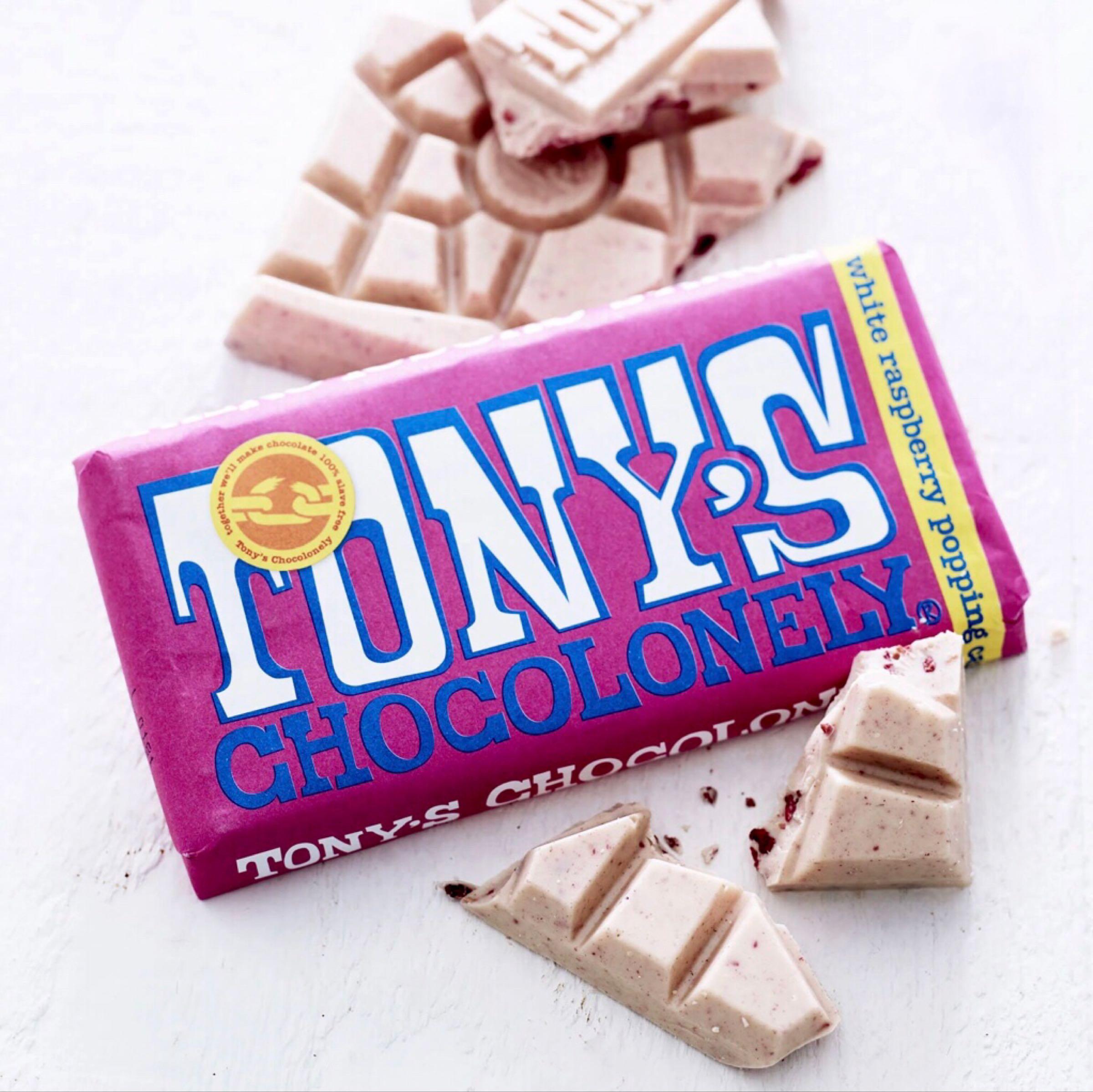 Tony's White Raspberry Popping Candy