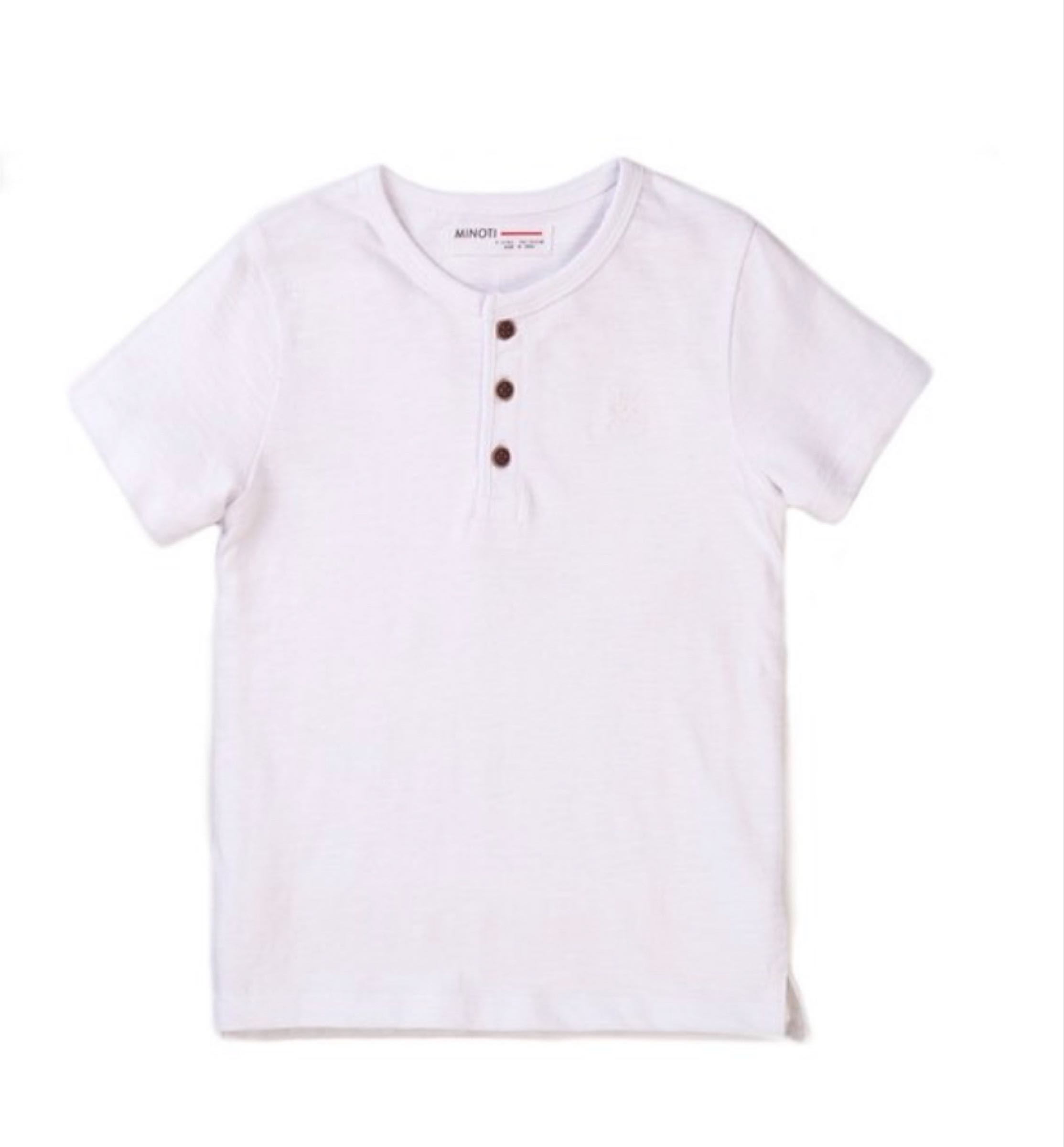 Boys white henley top size 7-8