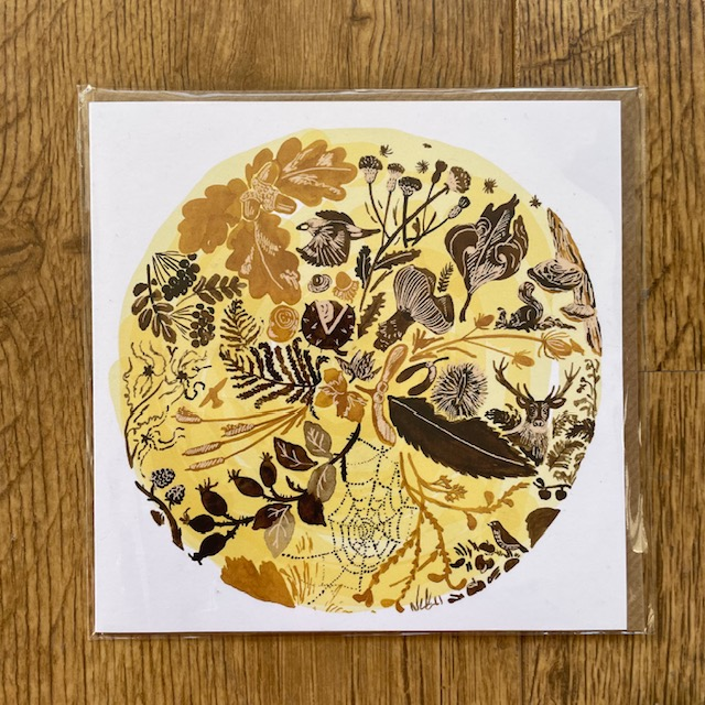 Jo Blaker set of four greetings cards illustrating the seasons