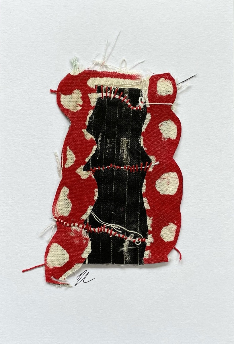 Mini Textile Card by Ros Johnson