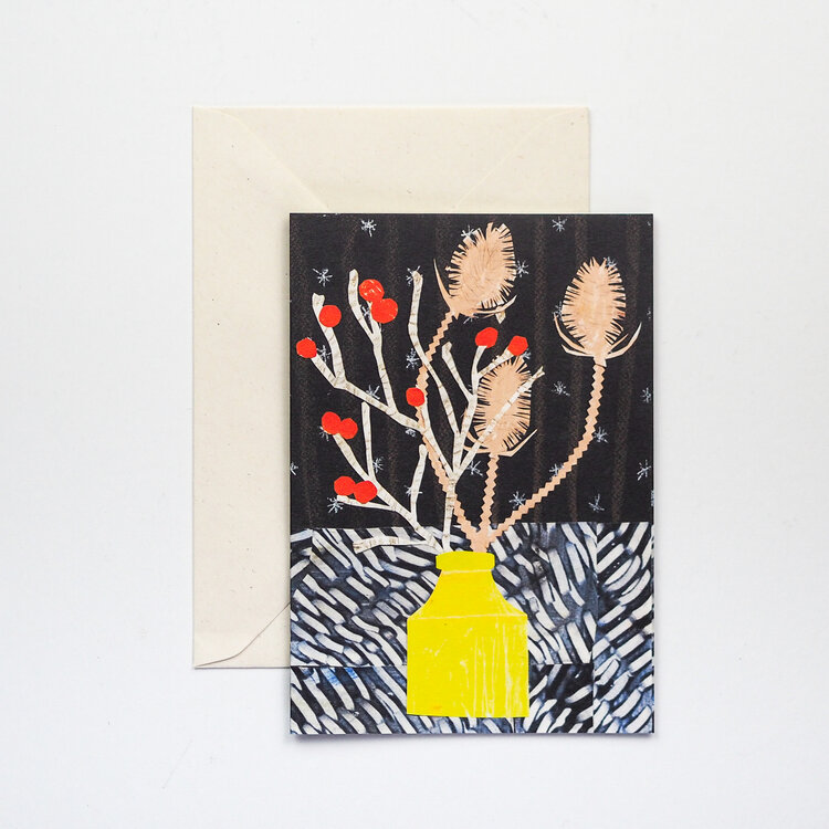 Winter Vase Card by Hadley Paper Goods