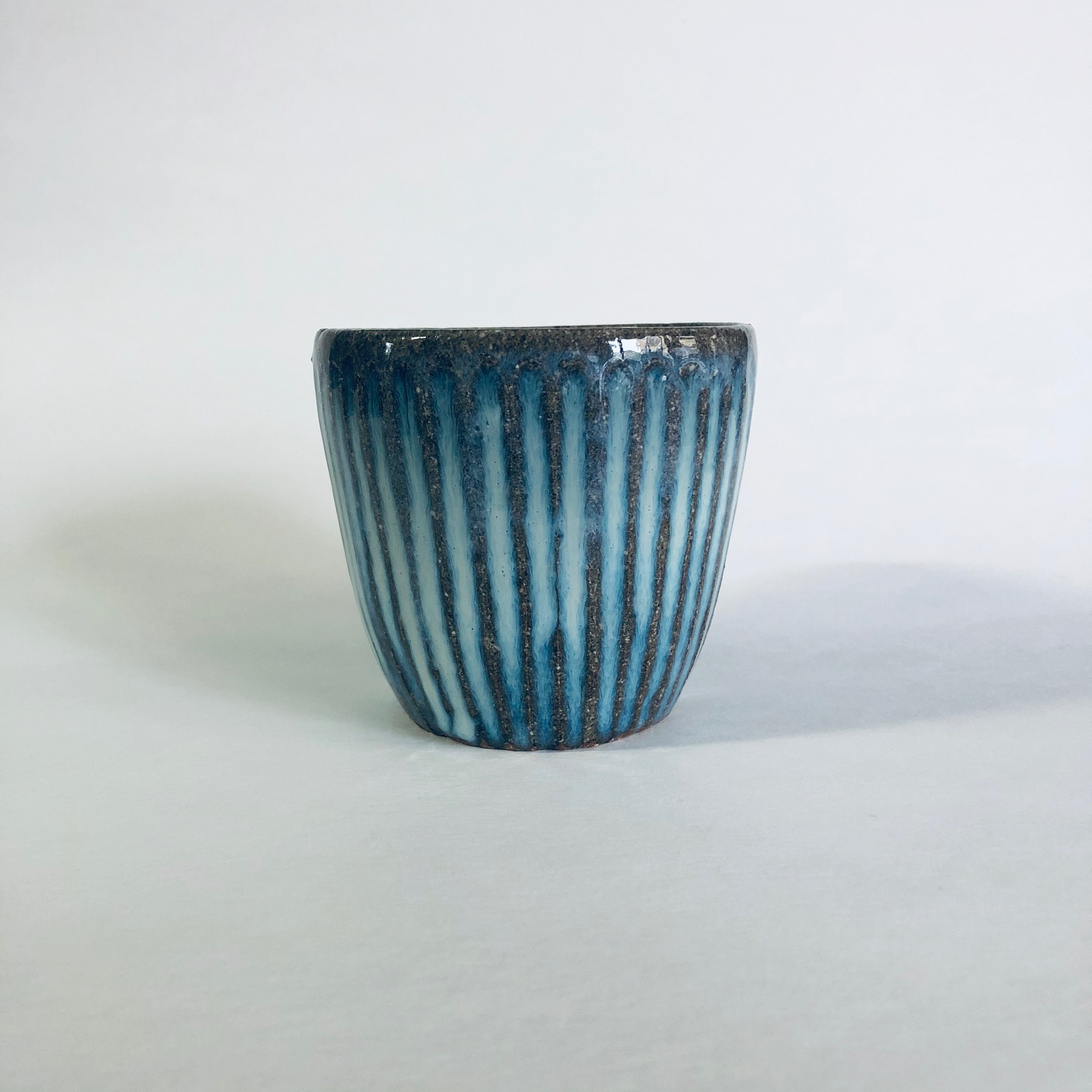 Matt Waite Fluted Stoneware Beaker