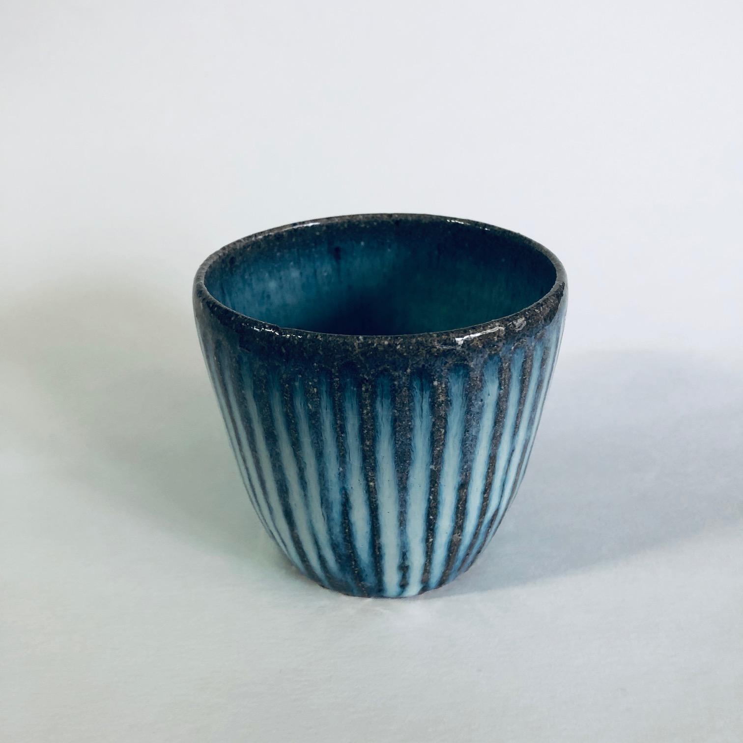 Matt Waite Fluted Stoneware Beaker