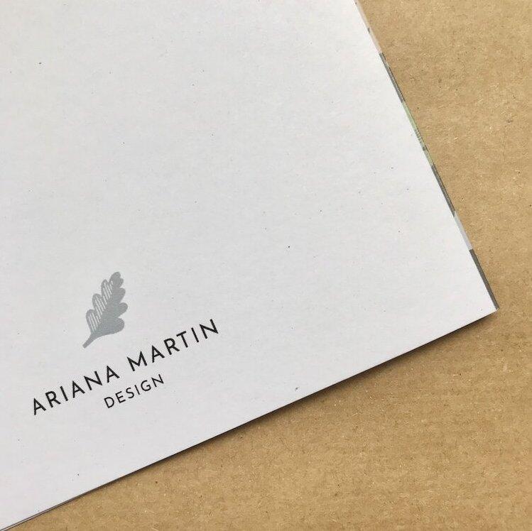 English Oak Greetings Card by Ariana Martin