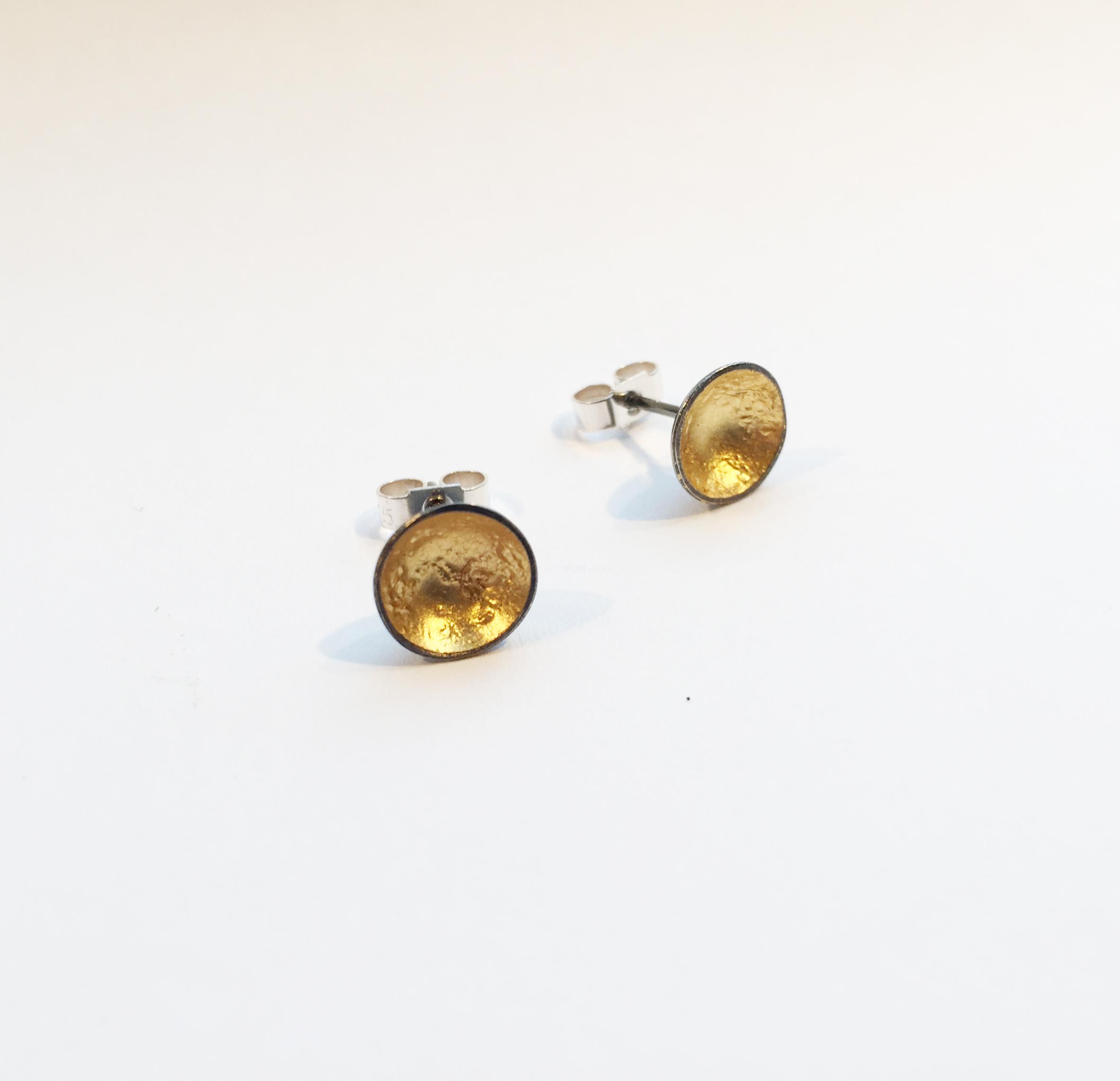 Silver earrings studs by Karen Parker
