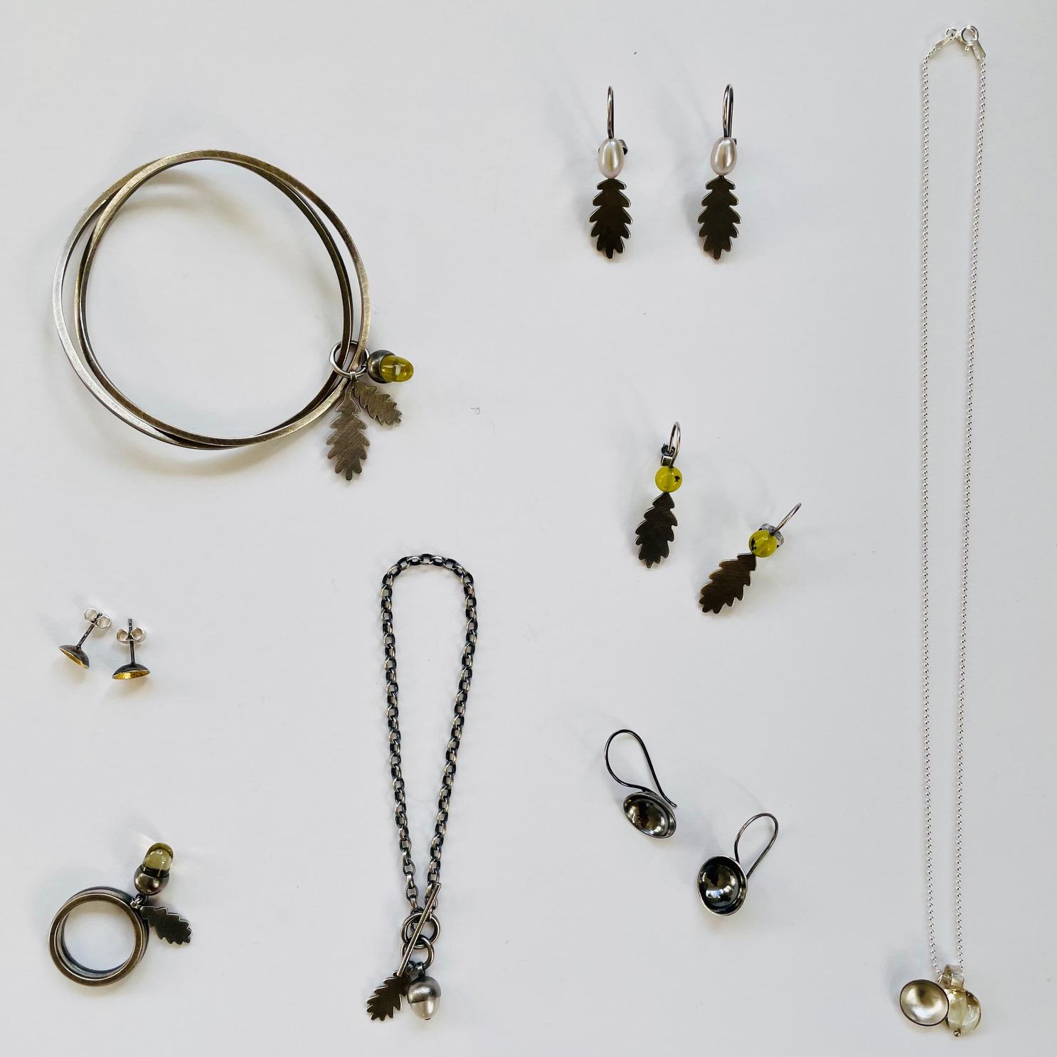 Double wave silver and jasper bracelet by Suzane Potter of Potter Siskin Jewellery