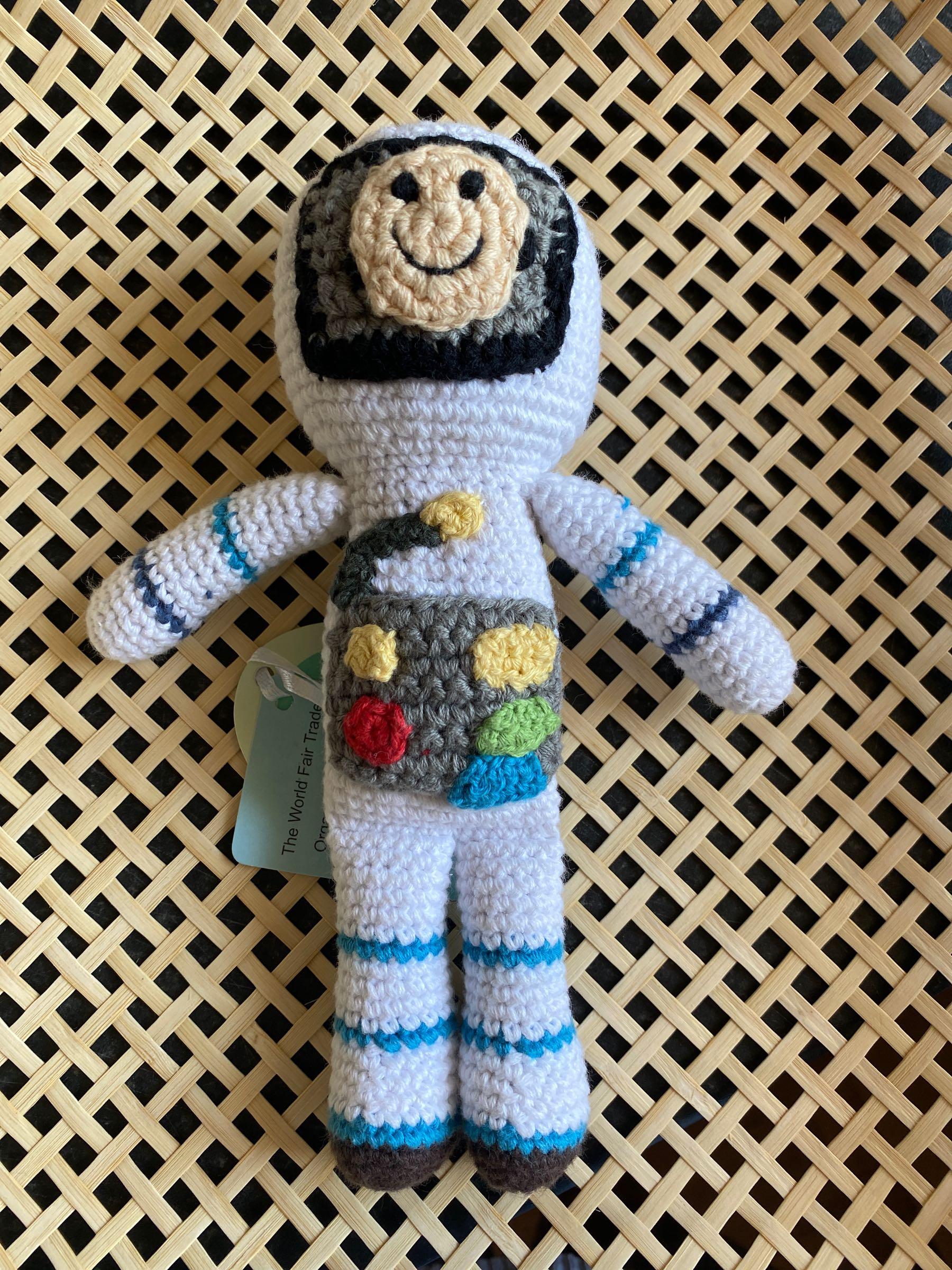 Pebble - Crochet spaceman rattle