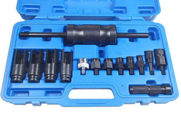 14PC INJECTOR EXTRACTOR WITH COMMON RAIL ADAPTOR