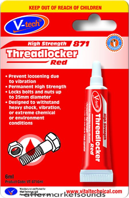 Threadlocker Red High Strength