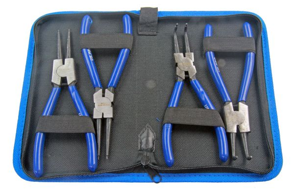 "4PC 7"" CIRCLIP PLIERS SET IN ZIP POUCH"