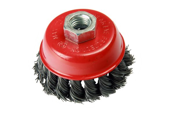 75MM WIRE CUP BRUSH - STEEL TWIST KNOT
