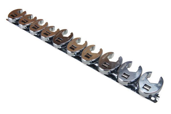 "10PC 3/8"" DR. METRIC CROWFOOT WRENCH SET"