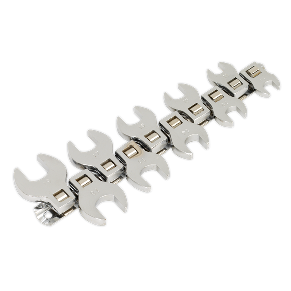 "10pc 3/8""Sq Drive Open-End Crow's Foot Spanner Set"