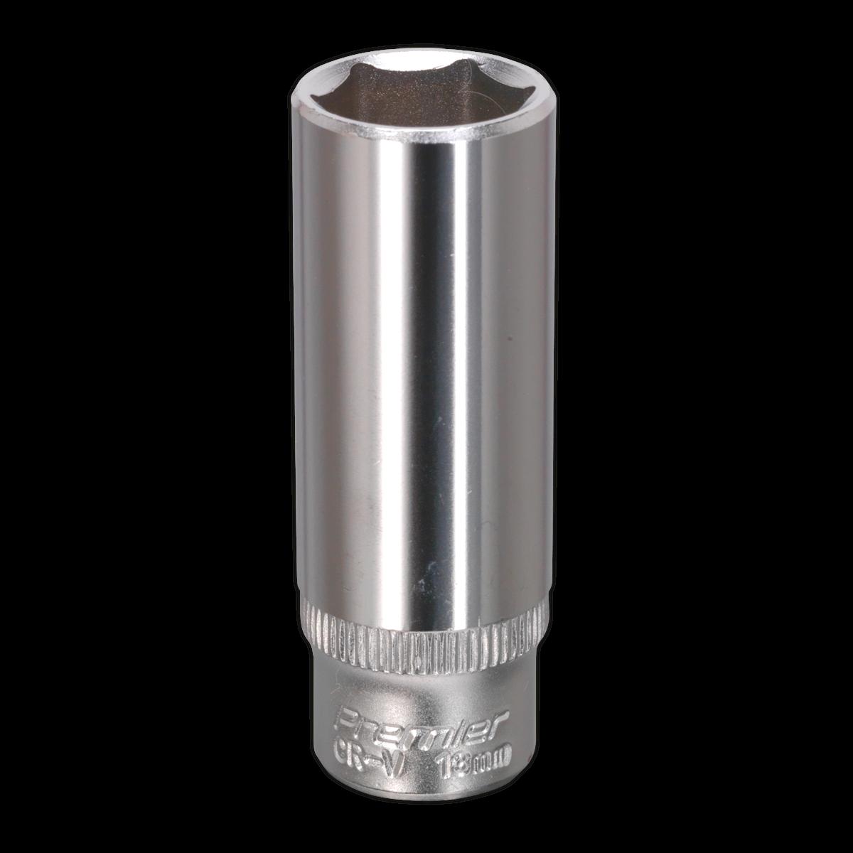 """WallDrive® Socket 13mm Deep 1/4""""Sq Drive"""